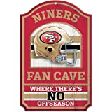 NFL San Francisco 49ERs 11-by-17 inch Fan Cave No Offseason Wood Sign at Amazon.com
