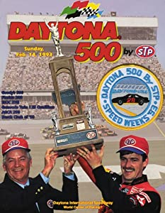 NASCAR Canvas 36 x 48 Daytona 500 Program Print Race Year: 35th Annual - 1993 by Mounted Memories