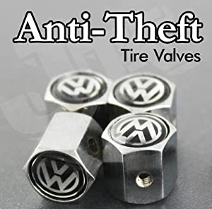 VW Volkswagen Anti-theft CAR Wheel Tire Valve Stem Caps from AA
