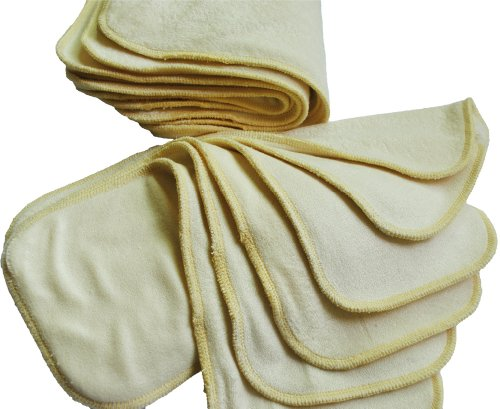 Alva Baby 3 Layers of Bamboo Viscose Diaper Inserts (12 Pcs) 12x