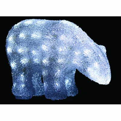 PW Stunningly Bright 20 LED Lights polar bear Christmas Decoration