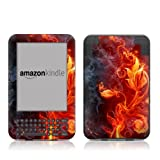 Kindle Keyboard Skin - Flower Of Fire - High quality precision engineered removable adhesive vinyl skin for the 3G + Wi-Fi 6