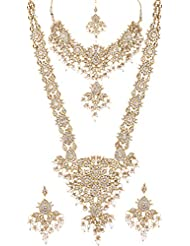 Lucky Jewellery Antique Alloy Bridal Set For Women (IZP-D-45-W)