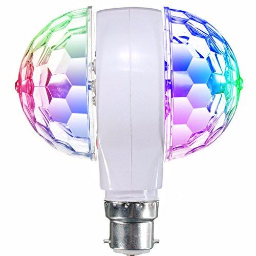 GLISTENY Ball Stage Light RGB 3W Double headed LED Crystal Magic Rotating Colorful Lamp For KTV Disco Bar DJ Ballroom Home Club B22