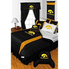 Iowa Hawkeyes FULL Size 14 Pc Bedding Set (Comforter, Sheet Set, 2 Pillow Cases, 2... by Sports Coverage