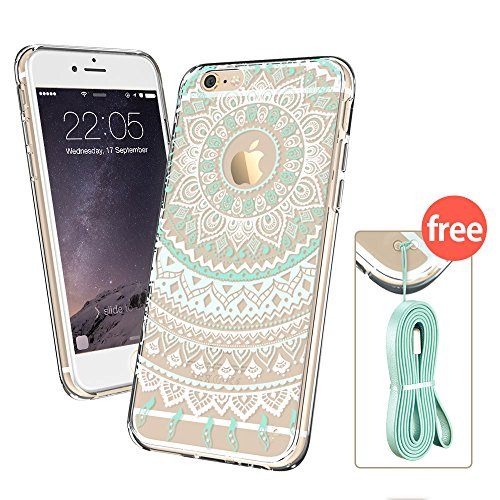 new concept 9c8d3 9b876 iPhone 6 Case, iPhone 6 Clear Case Mint Henna, ESR Totem Series ...