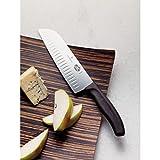 Victorinox Fibrox 7-Inch Granton Edge Santoku Knife