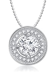 MEENAZ SOLITAIRE PENDANT SILVER PLATED DESIGNER WITH CHAIN FOR MEN AND WOMEN PS 236
