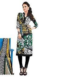 Sinina Crepe Salwar Kameez Suit UnStitched Dress Material