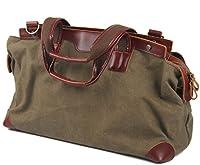 Nasis Large Canvas Leather Travel Tote Luggage Hobo Weekender Duffel Satchel Handbag AL4016 from NASIS