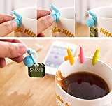 Snail Wineglass Label for Hanging Tea Bag Colorful Snails Clip Silicon Gifts