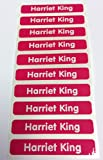 Easy2name Personalised Stick On Waterproof Name Labels (20, Pink)