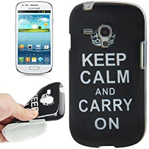 Crazy4Gadget Keep Calm and Carry On Pattern TPU Protective Case for Samsung Galaxy S III mini / i8190
