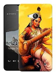"Humor Gang Saraswati Hindu God Printed Designer Mobile Back Cover For ""Nokia Lumia 550"" (3D, Matte, Premium Quality Snap On Case)"