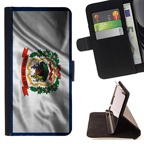 fjcases-west-virginia-the-mountain-state-waving-flag-slim-wallet-card-holder-flip-leather-case-cover