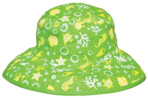 Banz Reversible UV Bucket Sun Hat - Green Sea Creatures 0-2y