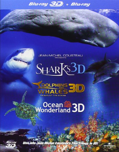 IMAX: シャークス / ドルフィン&ホエールズ / オーシャン・ワンダーランド /3D&2D ジャンミッシェル・クストー トリロジー(3部作)セット(日本語切替可)[Blu-ray] [Import]