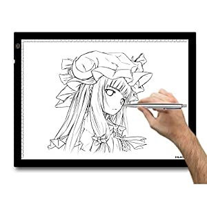 Huion A3 Graphique Tablette lumineuse de dessin à LED réglable Format 48 x 36 cm. Photo, Film, Slider Transfert, Tatoo recherches, projets d'artisanat, Tissu Conception, bande dessinée, le traçage professionnel en intérieur, Architecture, Design et dessin