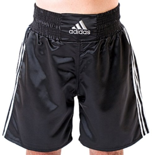 Adidas Boxing Shorts - Black/Silver - Large