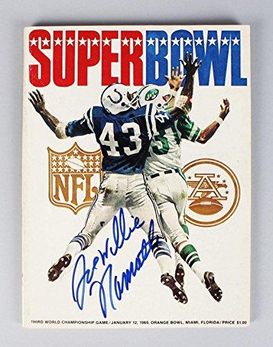 January 12, 1969 Super Bowl III -- New York Jets vs. Baltimore Colts Program Signed & Insc. by Joe Willie Namath (JSA) (1969 Super Bowl Program compare prices)