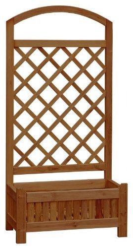 Rosenbogen Holz Kesseldruckimprägniert ~ Pflanzkübel mit Rankgitter