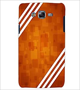 PrintDhaba BROWN PATTERN D-6344 Back Case Cover for SAMSUNG GALAXY J7 (Multi-Coloured)