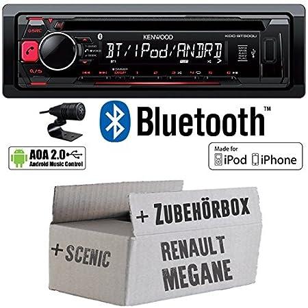 Renault Megane & Scenic 1 - Kenwood KDC-BT500U - Bluetooth CD/MP3/USB Autoradio - Einbauset