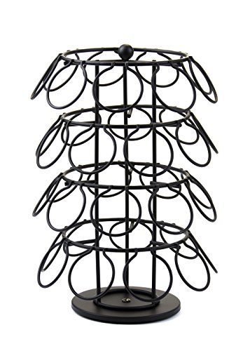 Revolving Wrought Iron 4-Tier Coffee K-Cups Spinning Carousel