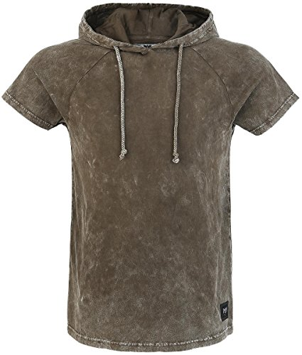 Black Premium by EMP Hooded Vintage Shirt T-Shirt marrone XL