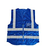 VanSafety Safety Vest Reflective Breathable Mesh Motorcycle Running Traffic Emergency Comfortable