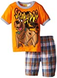 Scooby Doo Little Boys' Short Set, Orange, 6