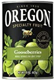 Oregon Fruit Products, Canned Fruits, 15oz Can (Pack of 3) (Choose Fruit Below) (Gooseberries in Light Syrup)