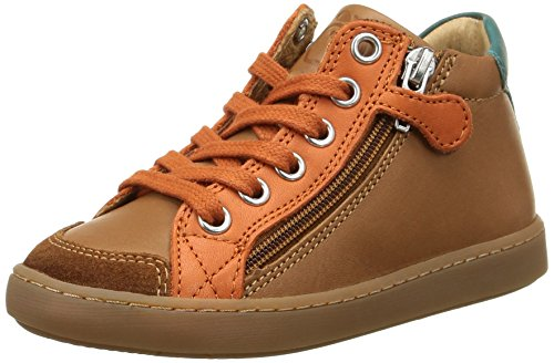 Shoo Pom - Play Hi Bi Zip, Sneakers per bambini e ragazzi, multicolore (lipiz camel/orange), 31