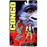 Kenner Year 1995 CONGO The Movie Series 5 Inch Tall Action Figure - PETER ELLIOT with Night Scope Backpack and Tracer Assault Weapon