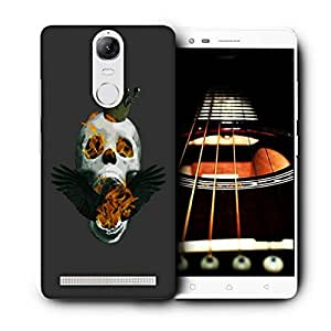 Snoogg Skull On Fire Designer Protective Back Case Cover For LENOVO K5 VIBE