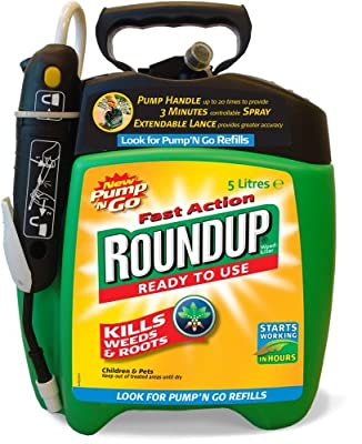 Roundup Fast Action Weedkiller Pump n Go Spray (Ready to Use), 5 L