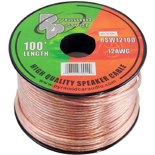 Pyramid RSW12100 12AWG 100-Foot Spool of High-Quality Speaker Zip Wire