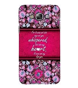 Beautiful Love Quote 3D Hard Polycarbonate Designer Back Case Cover for Samsung Galaxy E5 :: Samsung Galaxy E5 E500F (2015)