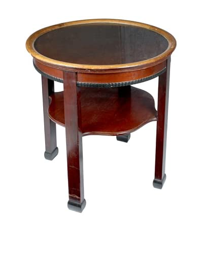 Round Library Table, Brown