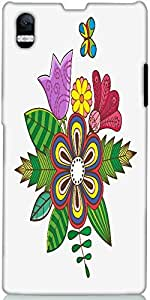 Snoogg Floral Background Designer Protective Back Case Cover For Sony Xperia ...