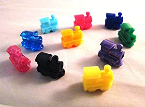 Mexican Train Domino Train Markers (Set of 10, Assorted)