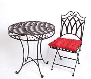 sitzgarnitur roma metall 1 tisch 2 st hle eisen gartengarnitur us257. Black Bedroom Furniture Sets. Home Design Ideas