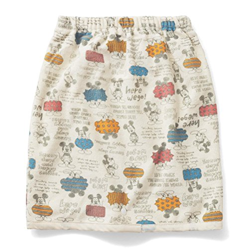 【Disney】ディズニー おねしょが浸みにくいケット(スカートタイプ) ミッキーマウス アイボリー 大