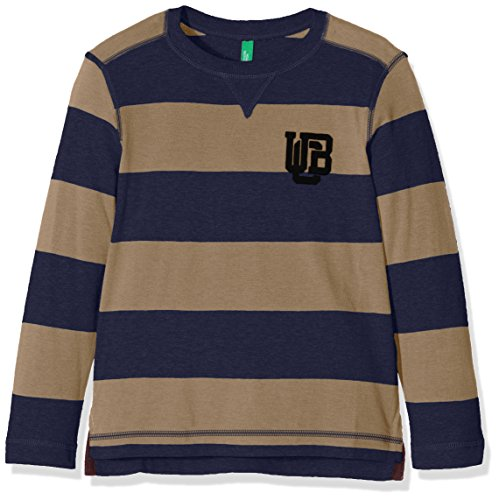 united-colors-of-benetton-3bczc12z3-camiseta-para-ninas-multicolor-beige-navy-stripe-6-7-anos-talla-