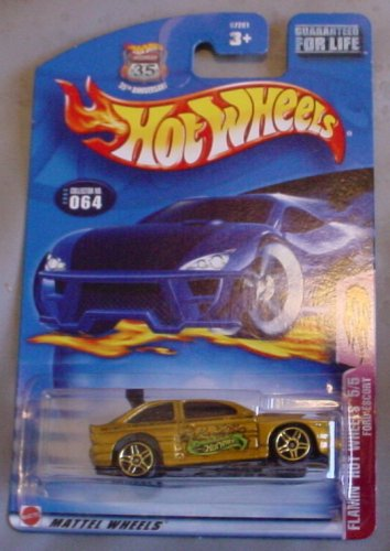 Hot Wheels 2003 Flamin' Hot Wheels 5/5 Ford Escort GOLD #064 #64