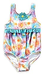 Baby Buns Baby Girls\' 1 Piece Bubble Daisy Swimsuit, Multi, 18 Months
