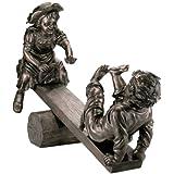 Teeter Totter Childhood Memories Garden Sculpture Statue