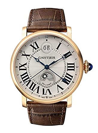 Cartier Rotonde de Cartier Large Date Second Time-Zone Automatic 18 kt Rose Gold Mens Watch W1556220