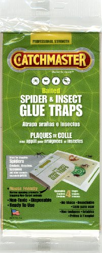 Spider & Insect Glue Trap - 4 Professional Strength Traps per Package
