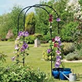 "Gardman R350 Rose Arch, Black, 3' 3"" Wide x 6' 3"" High"